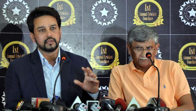 BCCI president Anurag Thakur and secretary Ajay Shirke were left red-faced.
