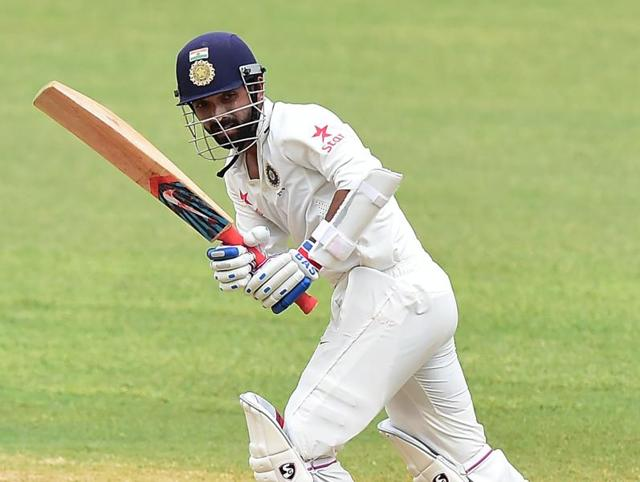 Ajinkya Rahane had a composed innings were he scored an unbeaten 108 on Day 3 of the second Test against West Indies.
