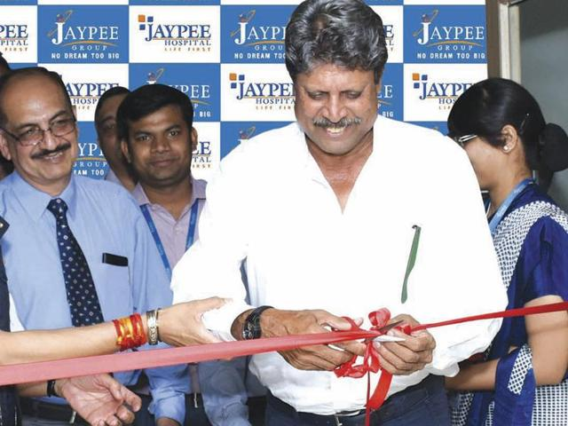 Former Indian cricket team captain KapilDev on Tuesday inaugurated the Department of Sports Medicine and Rehabilitation at Jaypee Hospital in Noida Sector 128.