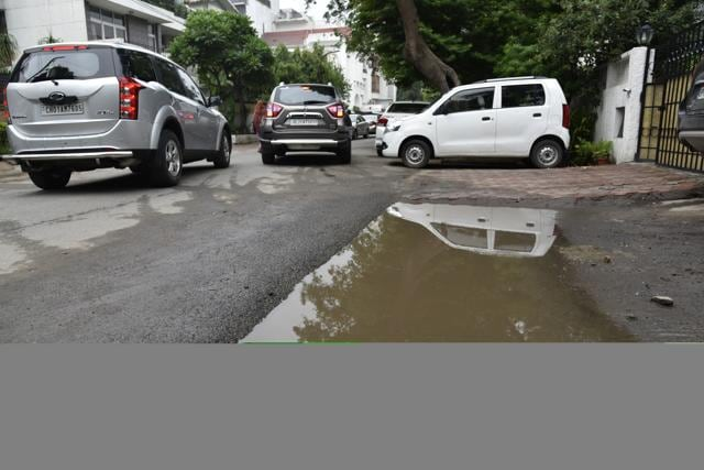 Residents are not happy with the quality of work and said that the new pavements sank after rainfall on Tuesday.