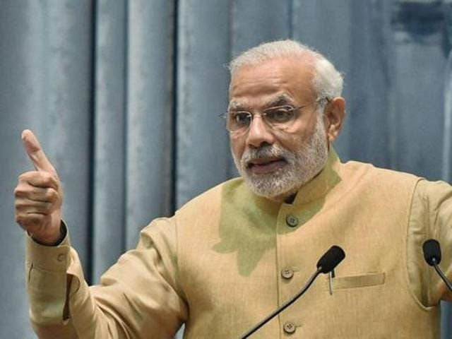PM Narendra Modi interacted with IASofficers of 2014 batch.