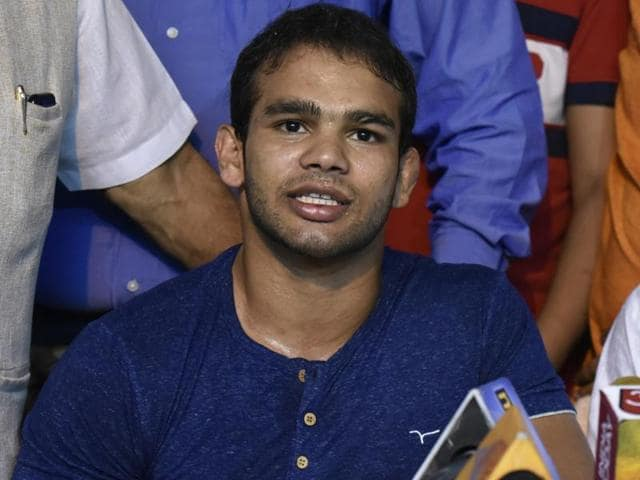 Wrestler Narsingh Yadav after NADA clears him of doping charges.