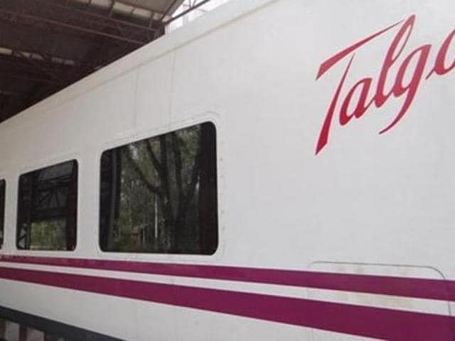 The trial run for the high-speed Spanish-built Talgo train between Delhi-Mumbai route began on Monday with the aim to achieve a maximum speed of 130 kmph.