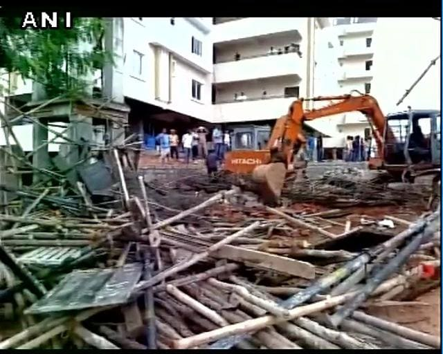 An under-construction arch collapsed in Kukatapally area of Hyderabad on August 2, 2016, killing three labourers and injuring four others.