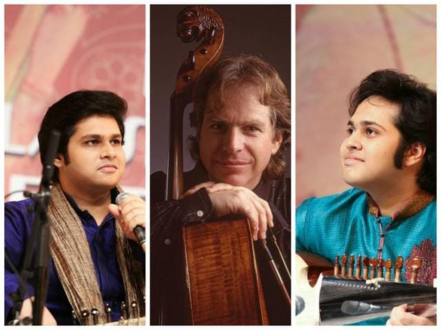 (From left) Lakshay Mohan, Barry Phillips and Aayush Mohan will perform at the Nehru Centre Auditorium, Worli, Mumbai.