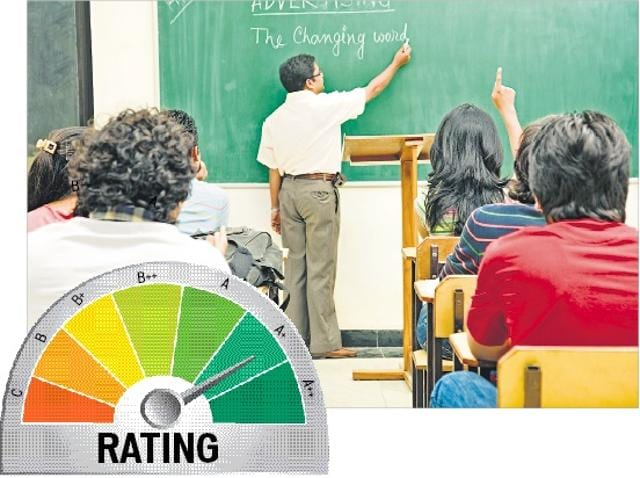 The new accreditation system has seven grading points instead of four to help categorise institutes better.