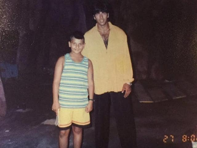 Actor Ranveer Singh shared a throwback picture with Akshay Kumar.