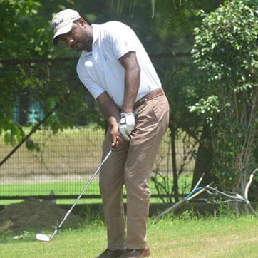 Indian golfer C Muniyappa shot a 67 to take a two-stroke lead on the first day of the Professional Golf Tour of India event at the Noida course on Wednesday.