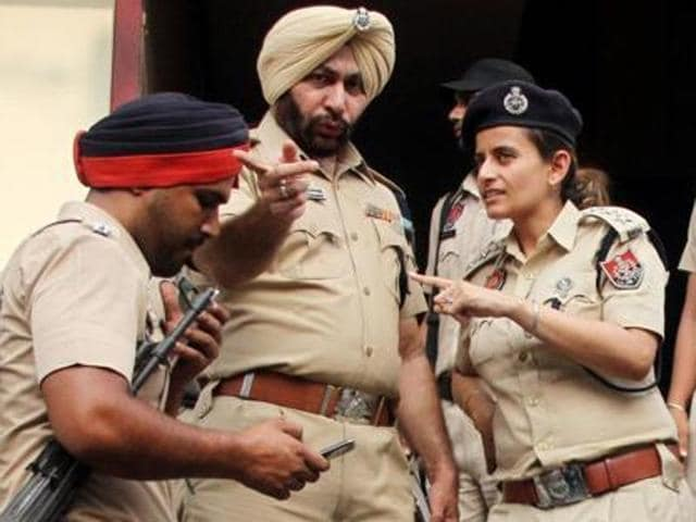 Sukhwinder Singh, the kingpin of the bank robbery, after his arrest in Ludhiana on Wednesday.