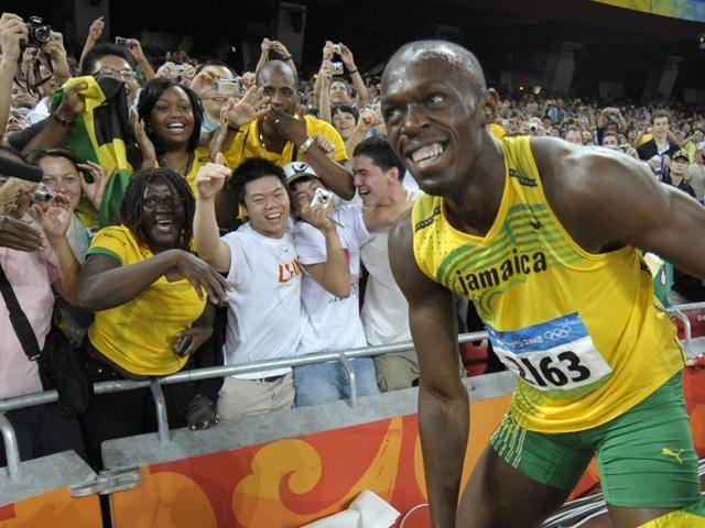 The high point of Jamaica's dominance in athletics was the 200-metre clean sweep at London Olympics in 2012, when Usain Bolt (C), Yohan Blake and Warren Wier grabbed  top three positions.  (AP Photo)