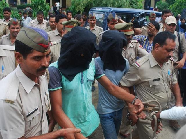 Three people were arrested by police in highway robbery and gang rape case at Bulandshahr, in Ghaziabad.