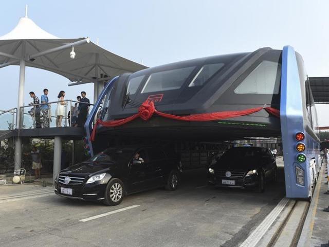 straddle bus,Transit elevated bus,China