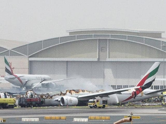 An Emirates airline flight from India to Dubai crash-landed at the airport in Dubai on Wednesday.