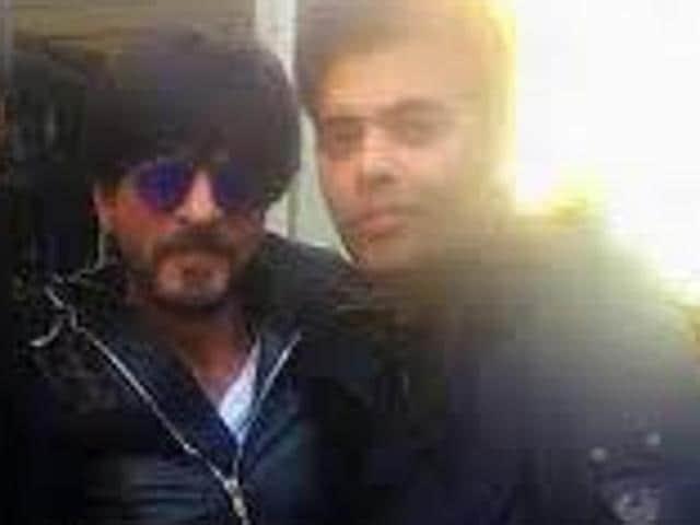 Shah Rukh Khan visiited Ranbir Kapoor and Karan Johar on the sets of Ae Dil Hai Mushkil.