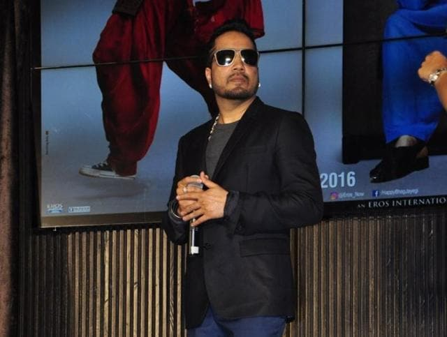 Singer Mika Singh during the music launch of film Happy Bhag Jayegi in Mumbai on August 2, 2016.