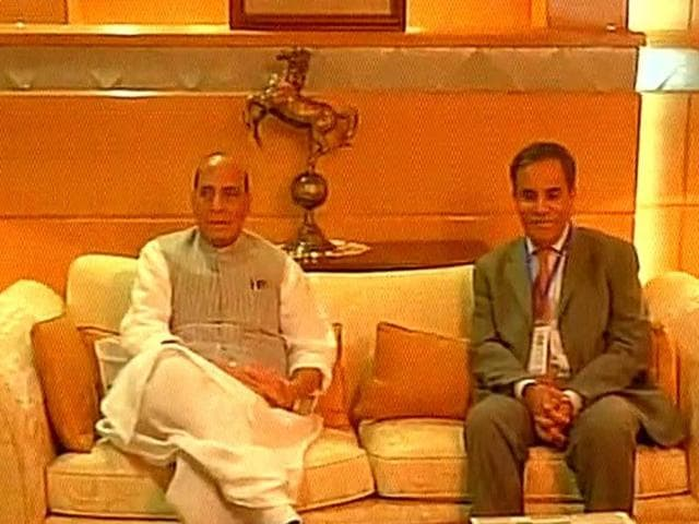 India's home ministerreached Islamabad on Aug 3, 2016, to attend the SAARC interior ministers conference. He met Amir Ahmed, additional secretary in Pakistan's interior ministry (in pic)
