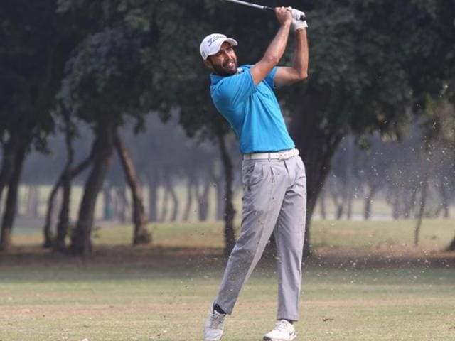Amardip Malik shot a 67 to be two strokes adrift of leader Honey Baisoya at the halfway mark in the Take Solution Classic Professional Golf Tour of India event at the Noida Golf Course on Thursday.