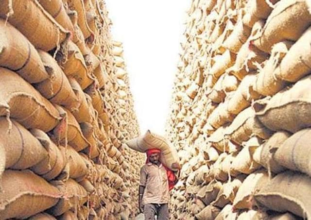 Unidentified persons reportedly barged into a Punjab warehouse at Aliwal road and fled with 450 bags of wheat.