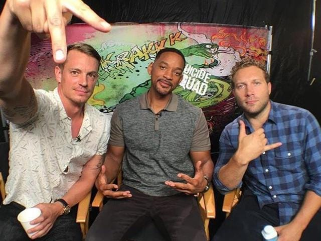 Joel Kinnaman, Will Smith and Jai Courtney star in Suicide Squad.