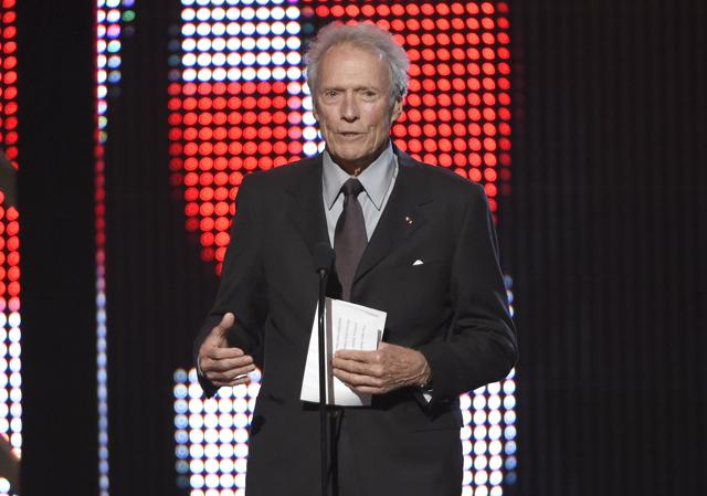 Actor-director Clint Eastwood at the Guys Choice Awards in California. Eastwood stopped short of endorsing Donald Trump, but made clear who he preferred in the USpresidential race