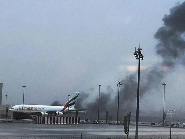 An Emirates airline flight from India to Dubai crash landed at the airport in Dubai.