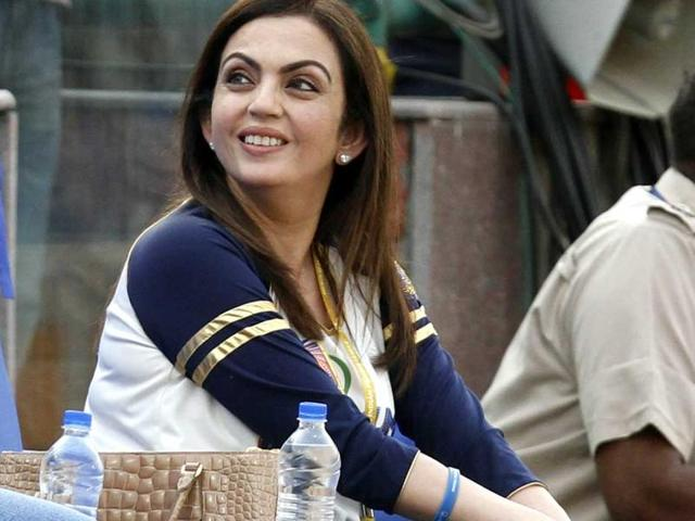 File photo of Nita Ambani, owner of IPL team Mumbai Indians.  Ambani has been elected as an individual member of International Olympic Committee, becoming the first Indian woman to join the body which governs Olympic sports .