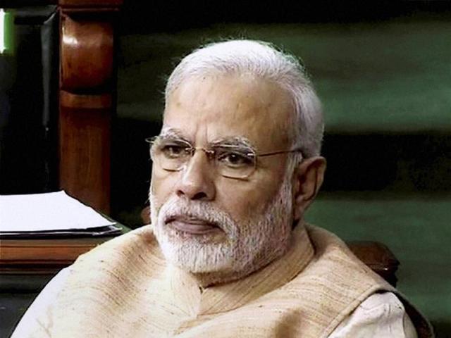 Prime Minister Narendra Modi in the Lok Sabha in New Delhi.