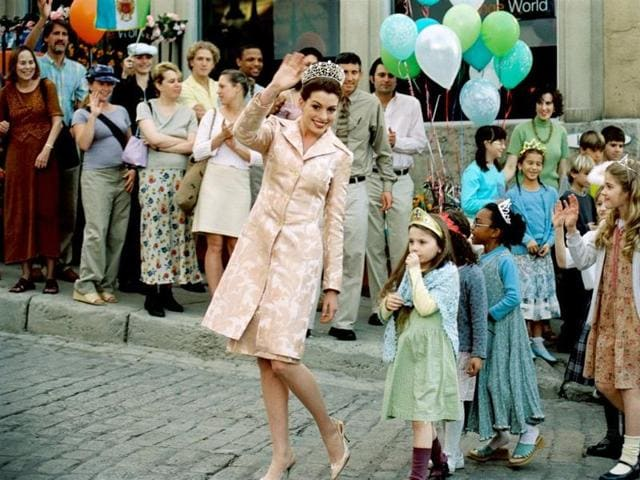 Hathaway played Mia Thermopolis in the movie, a somewhat ungainly but principled and romantic New York  teen who, it transpires, is heir to the throne of the quaint European country Genovia.