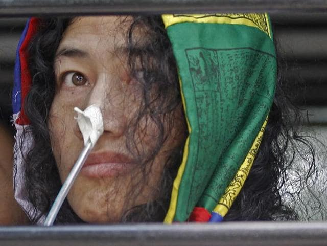 Irom Sharmila leaves after appearing at the Patiala House Court in New Delhi in October 2015. Almost 16 years after she began a fast-unto-death protest against the controversial Afspa Act, Sharmila announced she was ending it.(Ravi Choudhary/HT File Photo)