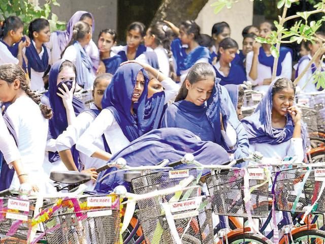 As per the scheduled visit, Harsimrat was to visit government senior secondary school (girls) in Bathinda to distribute bicycles to 456 students at 11am, but the Akali leader reached at about 12:30pm.