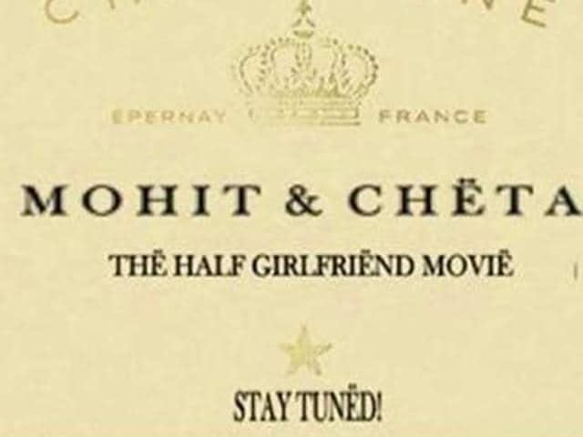 Mohit Suri is making a film on Chetan Bhagat's Half Girlfriend. Arjun Kapoor and Shraddha Kapoor play the lead roles.
