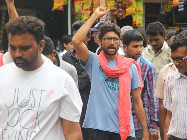 """Lawyer Jignesh Mevani is leading the Aazadi Kooch (March for Freedom) in Gujarat. """"My work is apolitical. Period,"""" he says."""