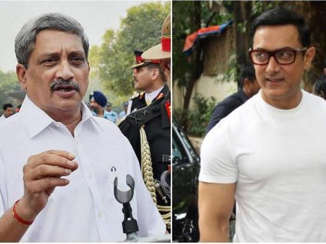 Parrikar had indirectly criticised Aamir for his 'intolerance' comments.