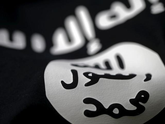 An Islamic State flag is seen in this picture illustration taken February 18, 2016.