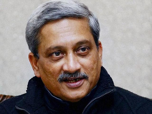 Defence minister Manohar Parrikar. The minister recently courted controversy when he apparently targeted actor Aamir Khan during a book release event.