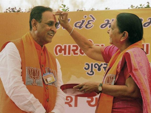 The Patidars and the Dalits have expressed little hope from the change of guard in Gujarat from Anandiben Patel to Rupani, brought in by the BJP before the crucial 2017 assembly elections.(PTI file photo)