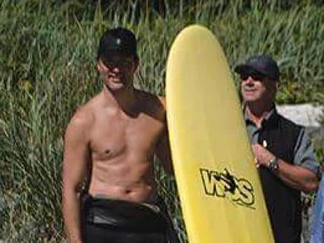 The Prime Minister was most recently photographed shirtless while taking a break from surfing and simultaneously photobombing a couple getting married on a Tofino, British Columbia, beach.