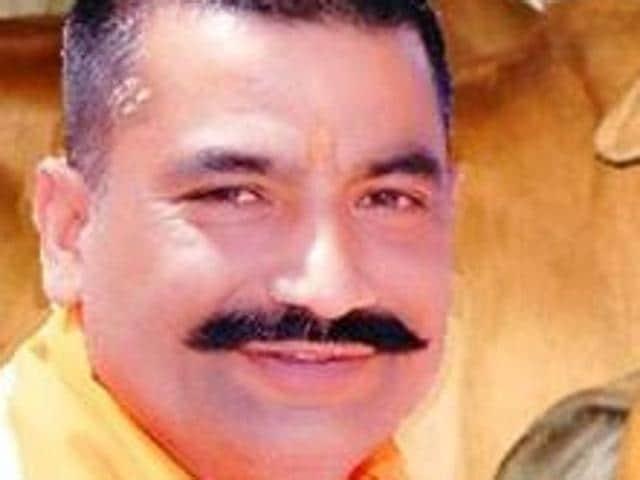 A file photo of Satish Kumar, president of a Gau Raksha Dal in Punjab.