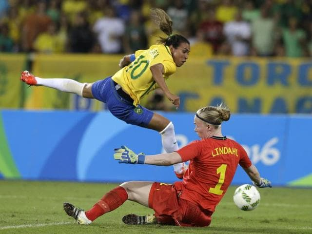 This is Marta's fourth Olympics and she has silver medals from Athens and Beijing; in London, Brazil lost in the quarter-finals.