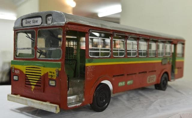 A model of the BEST bus as it exists currently. (ANSHUMAN POYREKAR)