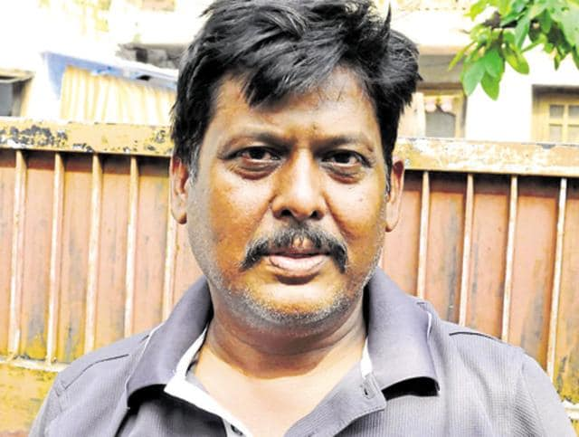 Maqdoompura resident Pramod Kannojiya (40) was looking down at traffic from the first floor of his house as usual when the leader was shot at in front of his eyes.(HT Photo)