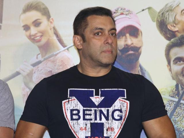 Salman Khan during the trailer launch of film Freaky Ali, in Mumbai on August 7, 2016.