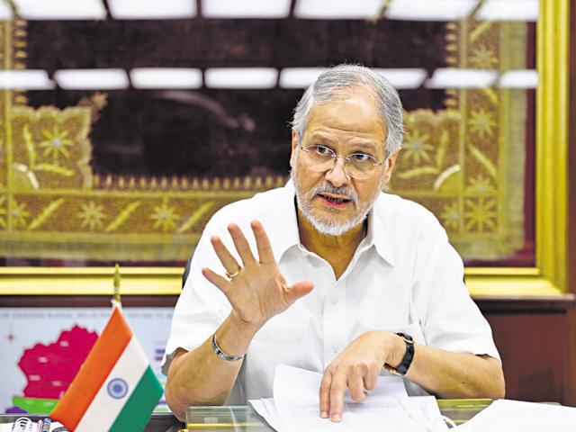 Lieutenant Governer of Delhi Najeeb Jung at his Raj Niwas office in New Delhi.