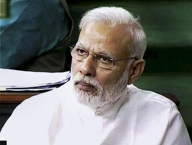 File photo of Prime Minister Narendra Modi in the Lok Sabha. The PM is expected to speak on the GSTbill when it comes up for passage in theLower House on August 8,  2016.