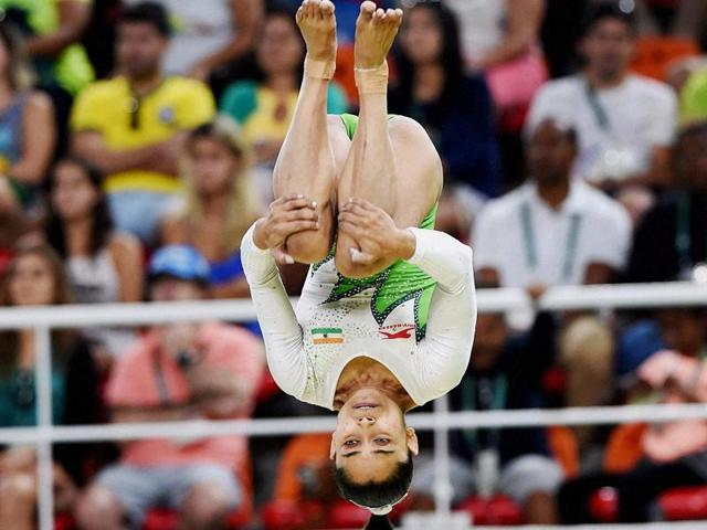 Dipa Karmakar participates at the Rio Olympics 2016 in Rio de Janeiro,Brazil.