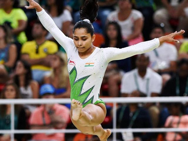 Gymnast Dipa Karmakar, who is representing India,  is the first Indian to enter an Olympic finals.