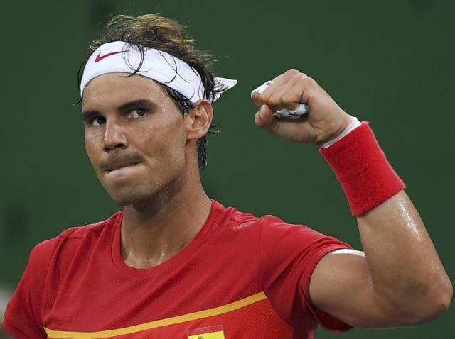 With his left wrist troubling him, Rafa Nadal, the 2008 gold medallist, only confirmed his Rio participation last week.