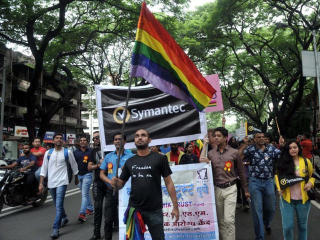 The parade started from Sambhaji park on JM road in the morning, where participants holding rainbow flags, mask, banners and posters began walking.