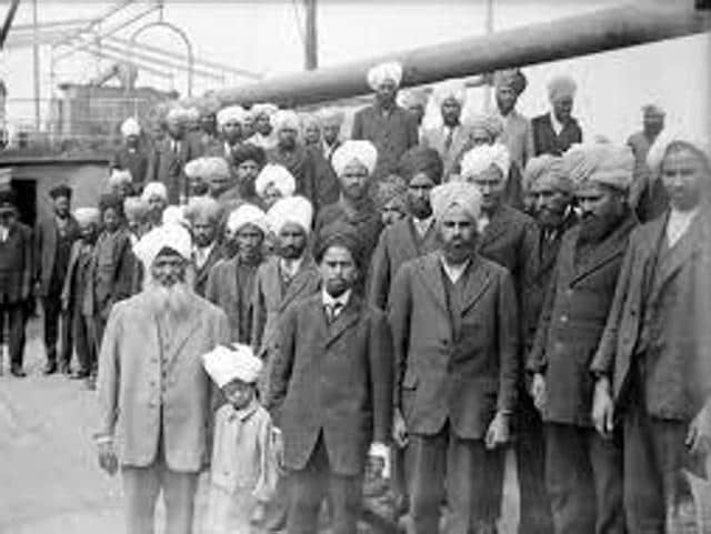 On July 23, 1914, Komagata Maru ship was escorted out of the Vancouver harbour by the Canadian military, and forced to return to India, where 20 passengers were killed.