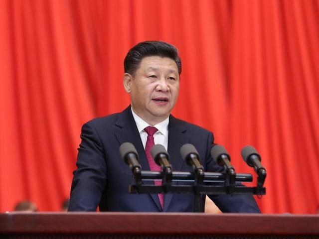 In this photo released by China's Xinhua News Agency on July 1, Chinese President Xi Jinping speaks at a ceremony to mark the 95th anniversary of the founding of the Communist Party of China at the Great Hall of the People in Beijing.